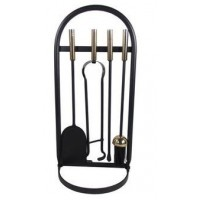 Phoenix Black/Nickel Hanging Companion Set