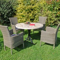 EUROPA LEISURE MONTPELLIER DINING TABLE WITH DORCHESTER 4 SEATER CHAIR SET