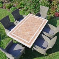 EUROPA LEISURE HAMPTON DINING TABLE WITH DORCHESTER 6 SEATER CHAIR SET